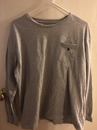 Polo gray crew-neck long-sleeved shirt Pierre Part, 70339