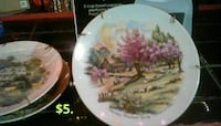 pink and green trees near house decorative plate St. Louis, 63116
