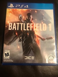 Battlefield 1 ps4 game case with game cd