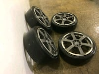 4  17in wheels rims tires  enkei  4x100  4x114.3