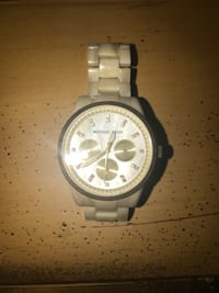 round silver-colored chronograph watch with link bracelet Norman, 73072