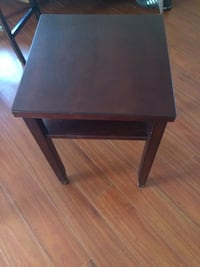 Square brown wooden side table Riverview