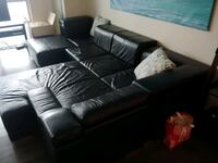 Big leather couch (3 pieces) Toronto, M8V 0A5