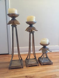 Set of 3 candle stands.
