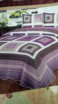 purple and black bed cover with pillows New Delhi, 110008