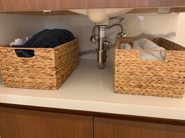 Set of two Médium Water Hyacinth Storage Bins with Handles