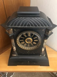 Tiffany Marble mantel clock. Does not work but can be fixed