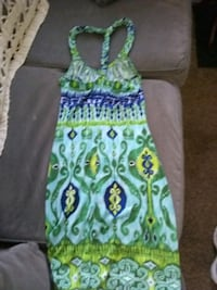green and blue floral sleeveless dress Nashville, 37076