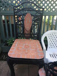 Iron and ceramic chairs. 3 chairs. **must pick up** Dollard-des-Ormeaux, H9G