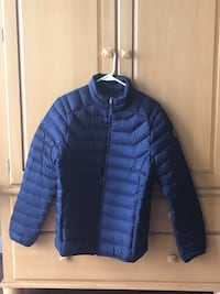 Abercrombie Mens Down Jacket Full Zip Blue Sz Small Glenelg, 21737