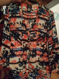 black, red, and white floral dress shirt Crestview, 32536
