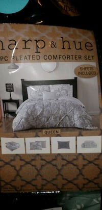 gray and white bed sheet set Colorado Springs, 80909