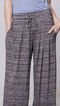 Anthropologie Bordeaux wide flare leg drawstring lounge pant M