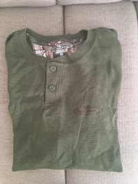 green and gray button-up shirt