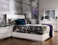 Queen Glossy White New Bedroom Set Montréal, H4N