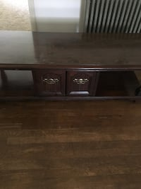 brown wooden TV stand with cabinet Dover, 17315