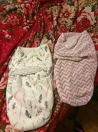 Pinkand gray/ floral swaddle blanket Stockton