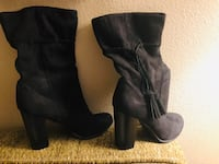 Women's black suede fashion boots size 7 1/2 Simi Valley, 93065