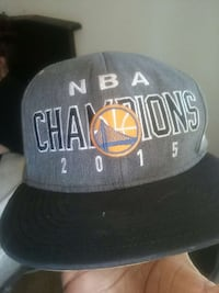 gray and black Golden State Warriors NBA Champion 2015 fitted cap