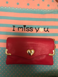 Red and white leather wristlet 多伦多, M1W 3K8