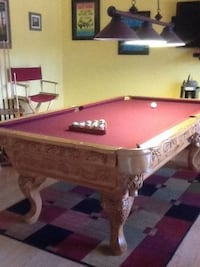 red and brown billiard table Melbourne, 32935
