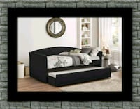 Daybed black with mattress Ashburn