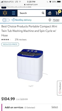 Portable washer with spin Irving, 75061