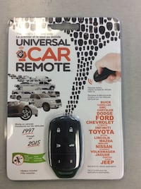 Universal Programmable Key Remote Car Fob - BRAND NEW!