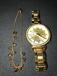 Gold Micheals Kors women's watch & bracelet  Monterey Park, 91755