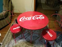 1950s Coca-Cola Parlor Table and Chairs Branson, 65616