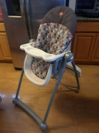 baby's blue and white high chair Brooklyn, 11214