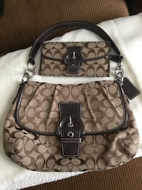 Authentic Coach purse and matching billfold.  Used only twice. Classic C pattern. Excellent condition . Sonora, 42776