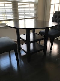 Haverty's Dining Table w/ 2 World Market Chairs Gaithersburg, 20878