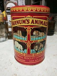 1914 replica Animal Crackers Tin from 1979