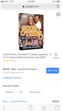 GOOD TIMES complete 6 full season set Bear, 19701