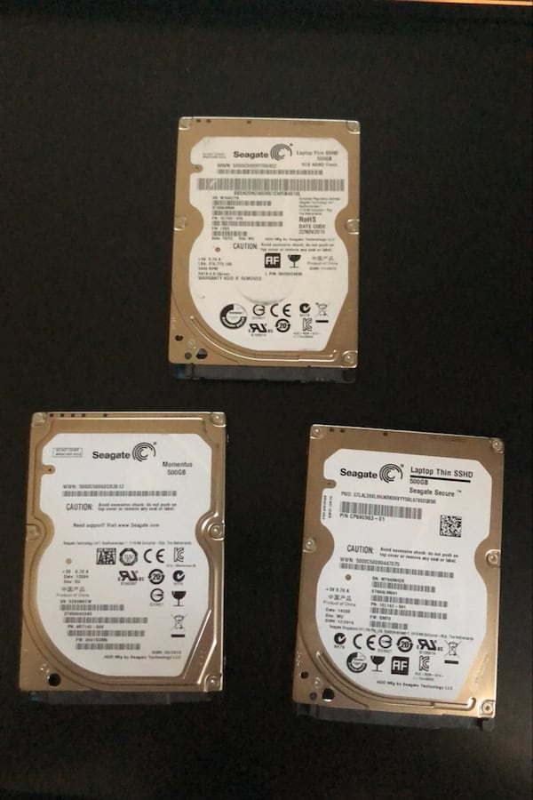 2 adet Seagate 500GB SSHD + 1 aadet 500GB Momentus 0