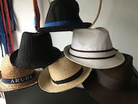 Fedora hats of different colours & styles Aurora, L4G 7H2
