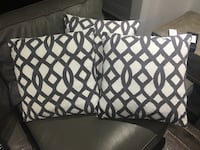 3-18 inch white and grey detail pillows Toronto, M6G