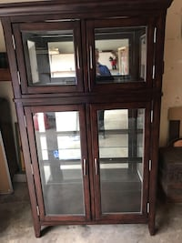 brown wooden framed glass display cabinet Watertown, 06795