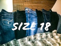 6 pairs of size 18 pants Calgary, T2V 3G3