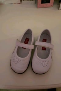 pair of white leather Mary Jane shoes 29 mi