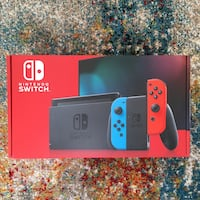 BRAND NEW Nintendo Switch Console v2 Red & Blue Joy Cons - Complete New Windsor, 12553