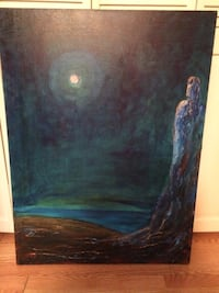 Acrylic painting on canvas selling for a fraction of what was paid