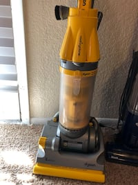 Yellow and gray dyson upright vacuum cleaner Aurora, 80012