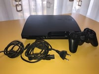 Console sottile Sony PS3 nera con controller Madone, 24040
