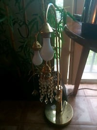 brown and white floral table lamp Arlington, 22204
