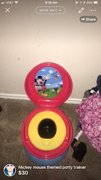 kid's yellow and pink Mickey mouse theme potty trainer San Antonio, 78222