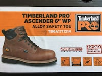 NEW Timberland PRO Work Boots - Size 9 Silver Spring