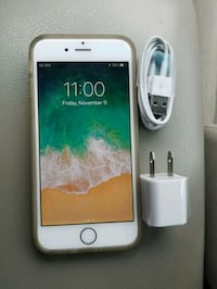 gold iPhone 6 with USB power adapter and Lightning to USB cable Falls Church, 22042