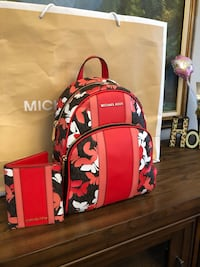 Michael Kors backpack  and wallet authentic new Fontana, 92337
